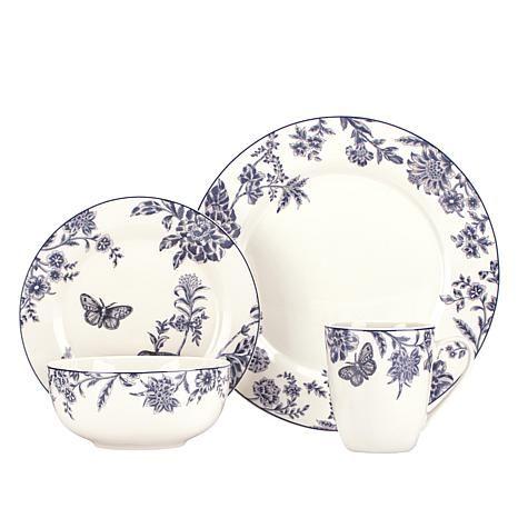 Kathy Ireland Blue Bayou 32-piece Dinnerware Set - 7989555 ...