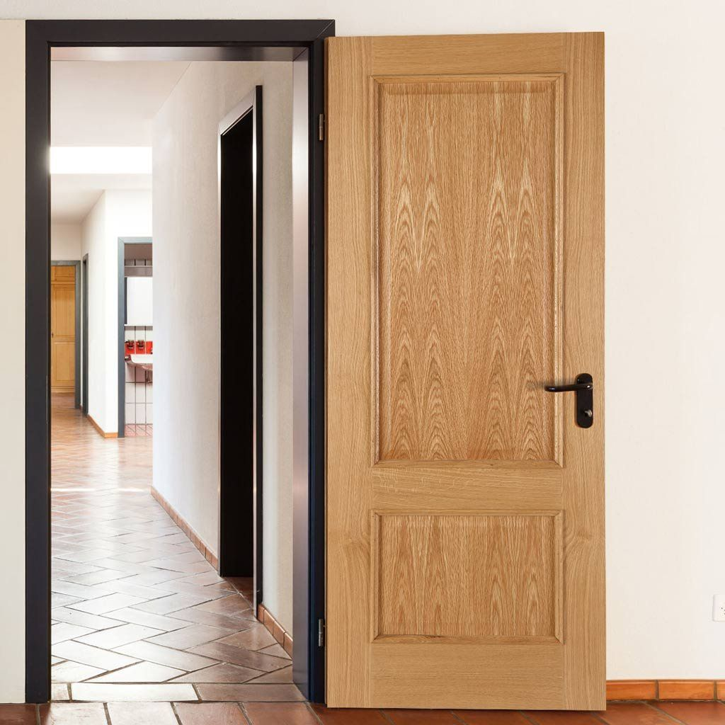 Iris 2 Panel White Oak Fire Door is 1/2 Hour Fire Rated | Fire ...