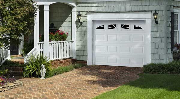 Amarr Lincoln 3000 Garage Door. Short Panel Doors And Windows In Sunray.