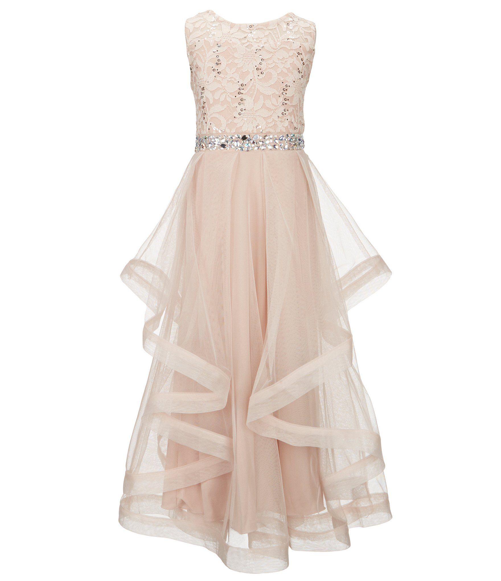 215ba10f3e5e Shop for Xtraordinary Big Girls 7-16 Sequin Lace Sheer Mesh Long Dress at  Dillards.com. Visit Dillards.com to find clothing