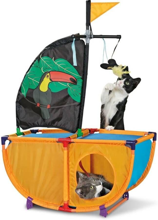 """Игровой комплекс Kitty City для кошек Caribbean Cruiser """"Карибская жемчужина"""", 86*60*31 см"""