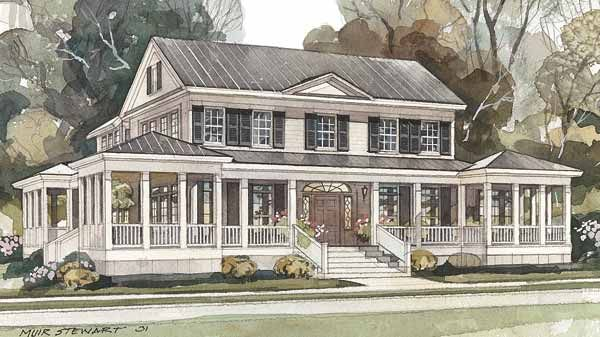My Favorite Overall House So Far Lots Of Windows Wrap Around Porch And Just The Right Size Southern Living House Plans Island House House Plans One Story