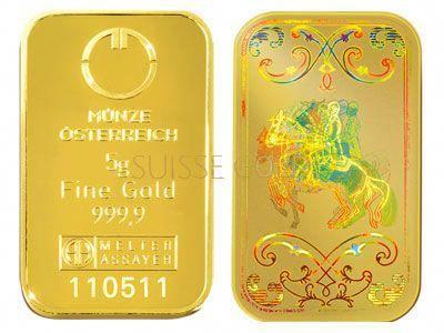 Munze Osterreich 5 Gram Gold Bullion Bar 9999 Fine Goldbullion