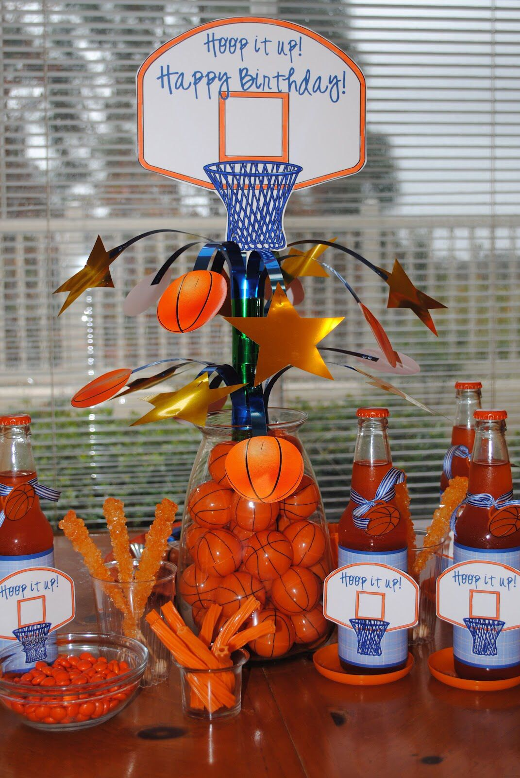 Basketball centerpiece fiesta de baloncesto fiestas