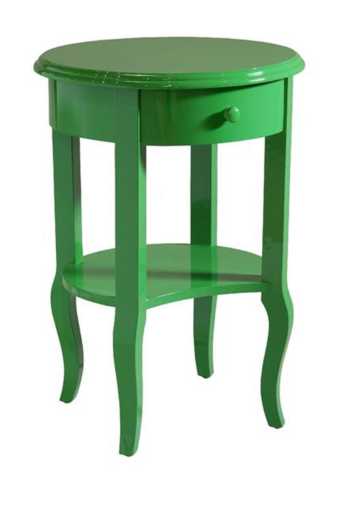 - Nevin Gloss Green Accent Table Green Accent Table, Green Painted