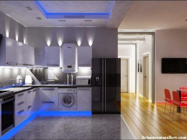 Elegant Modern False Ceiling Lights, Led Ceiling Lights For Modern Kicthen Interior  #FalseCeilingDiningProjects