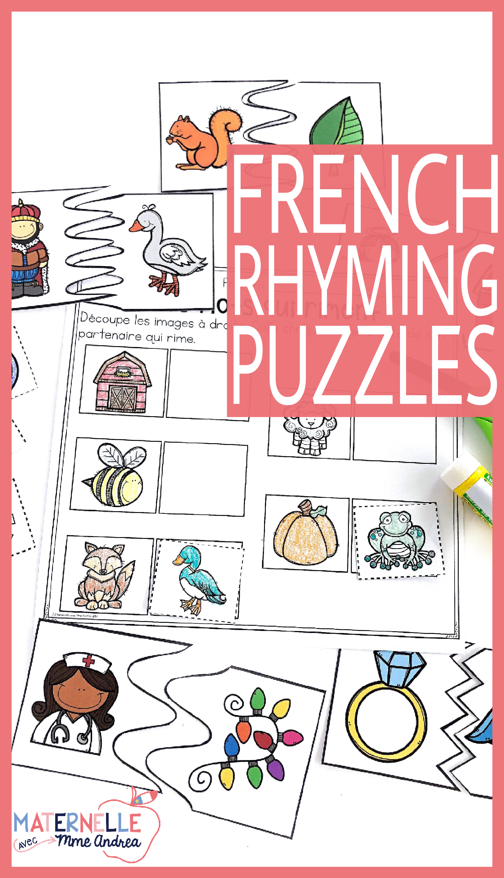 French Rhyming Puzzles
