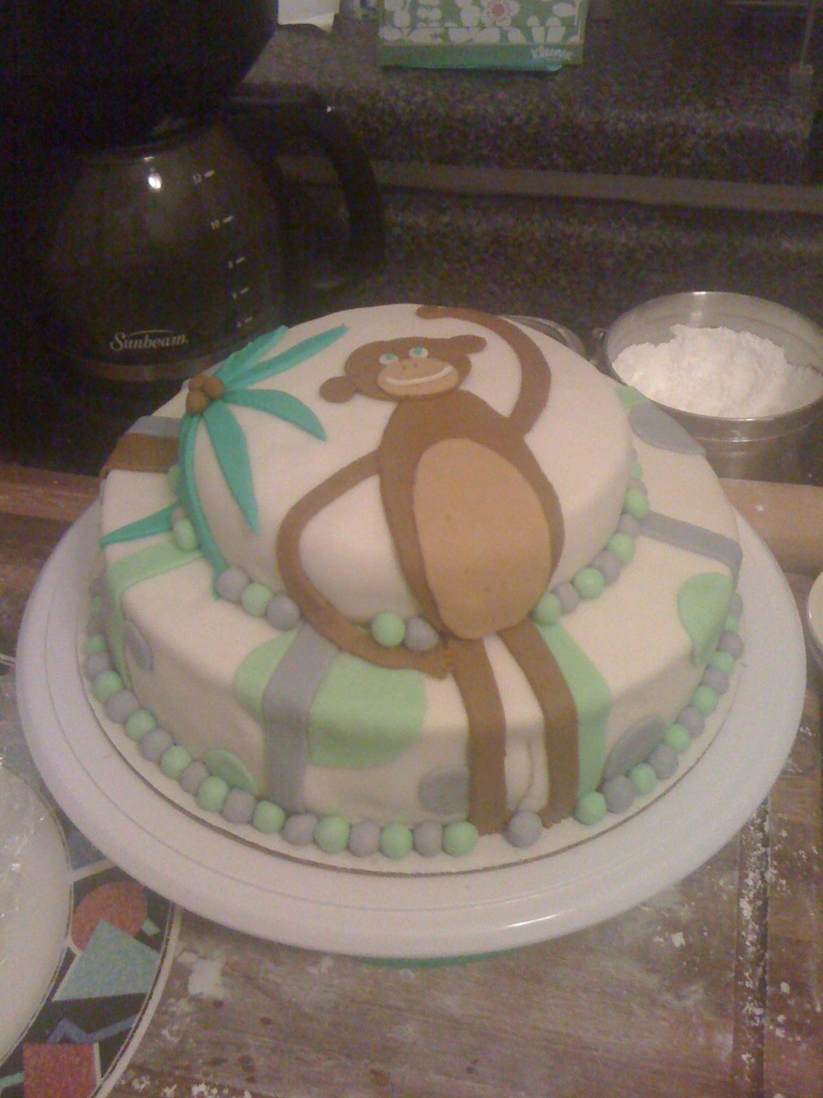Monkey Baby Shower Cake Taras Treats Pinterest Baby Shower