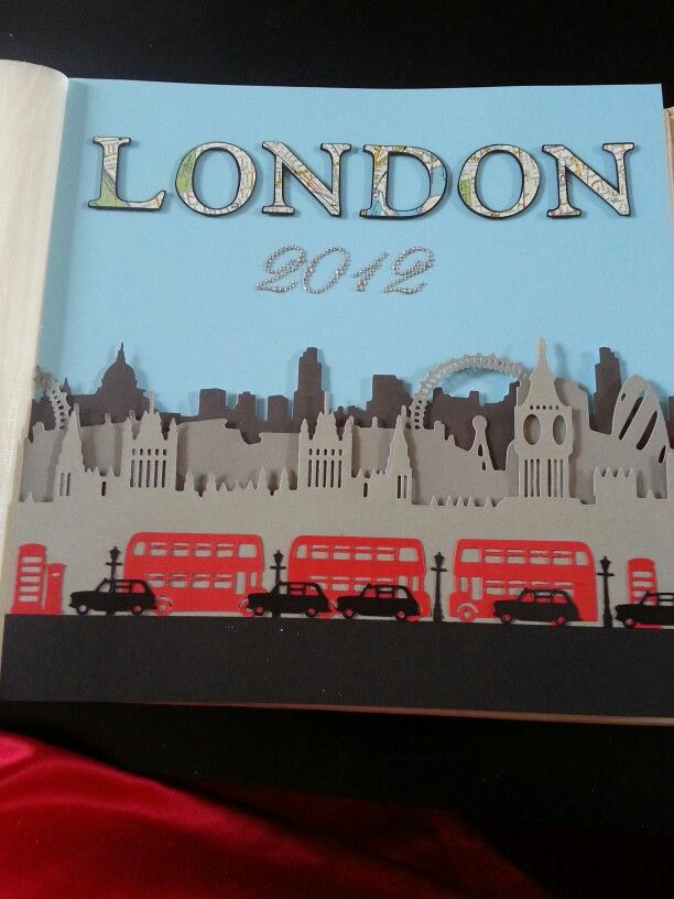 My London title page for scrapbook :)