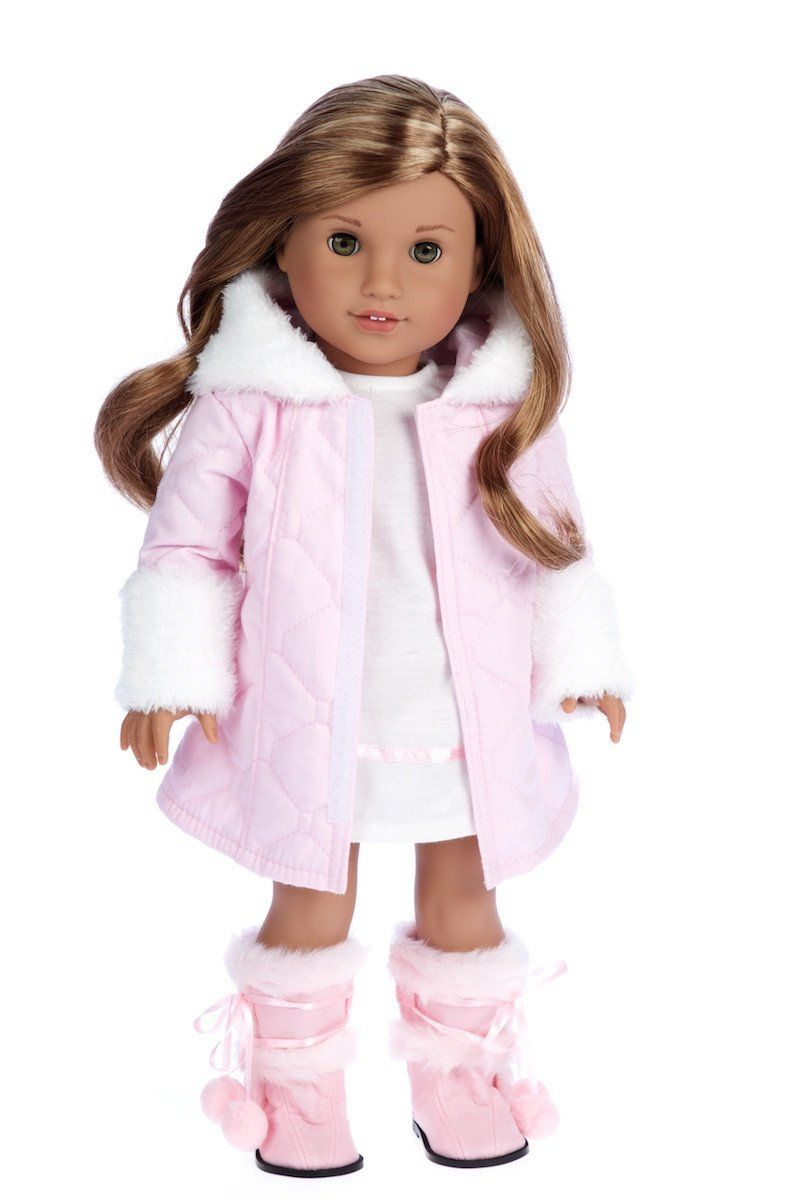 Cotton Candy - Clothes for 18 inch Doll - Pink Parka with Hood ...
