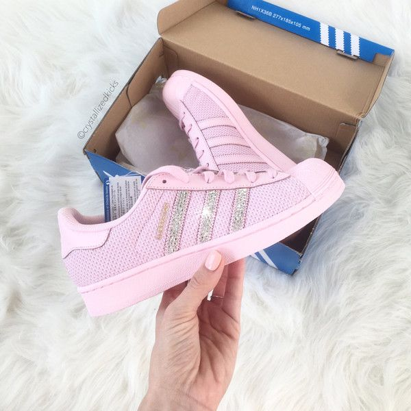 pink sparkly adidas shoes