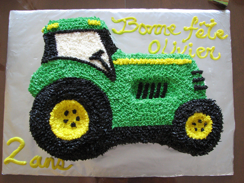 cake gteau tracteur tractor john deere