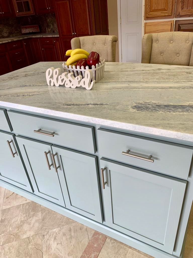 Our Cabinets Are Custom Made In Hagerstown Md Each Cabinet Is Given Undivided Attention To Detail Custom Kitchen Island Custom Kitchens Custom Made Furniture