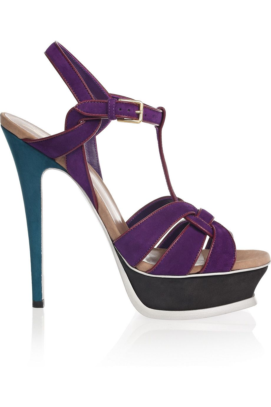 44ed90535be YSL Tribute sandals! I have a black leather knock-off version of these, but  nothing's as good as the real thing, especially if the real thing is teal  and ...