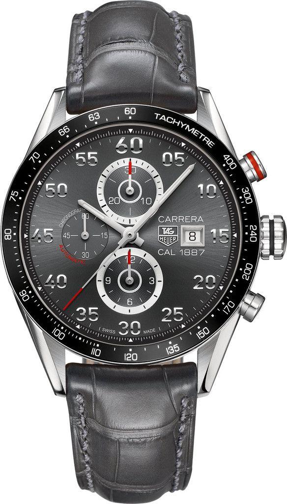 d9111b6bfaa TAG Heuer Watch Carrera Calibre 1887  bezel-fixed  bracelet-strap ...