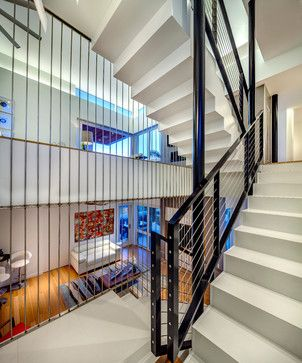 Tiptophaus contemporary staircase tampa josh wynne - Interior stair railing contractors ...