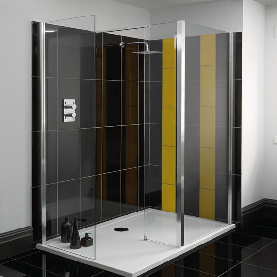 Atlas Walk In Shower Enclosure 1700 X 800mm With Images Shower