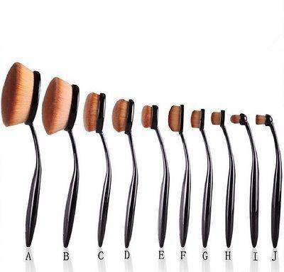 Pro Oval MakeUp Brush Foundation Powder Cream 6 8 Large Set BrushesTool Cosmetic