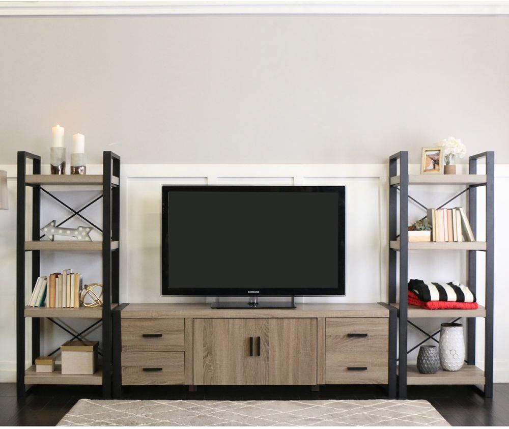 Tv Stand Cabinet Storage Media Entertainment Center Urban Blend 70