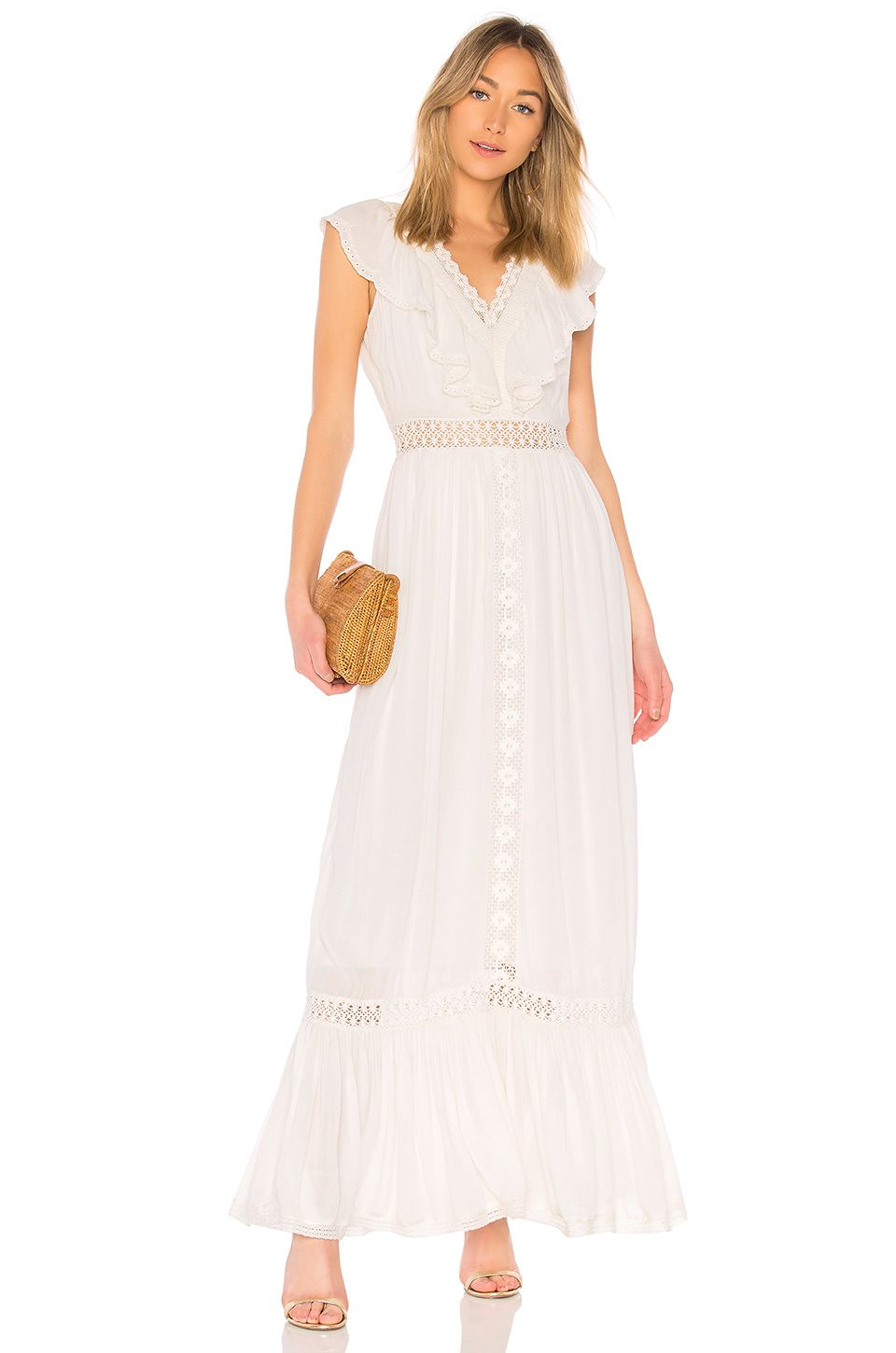 1960 wedding dresses  House of Harlow  x REVOLVE Mora Dress in Cream  Yes to the