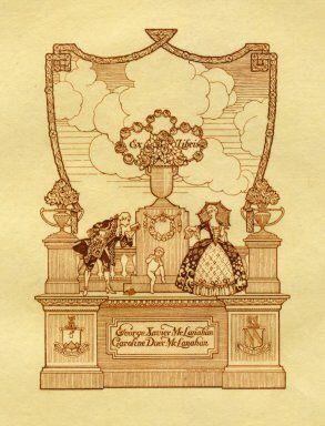 Ex libris by William Edgar Fisher for George Xavier McLanahan and Caroline Duer McLanahan, 1908 - Pratt Institute Ex Libris Collection