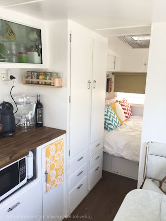 My dear friend and her family of 4 have moved in to a campervan it 39 s super cute redone Diy caravan interior design ideas