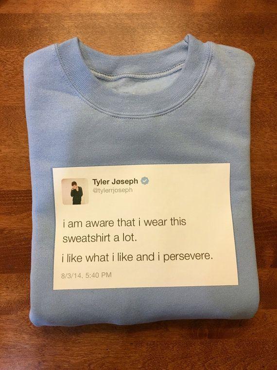 8a5d01d944005 Tyler Joseph Tweet Sweatshirt by 816Creations on Etsy