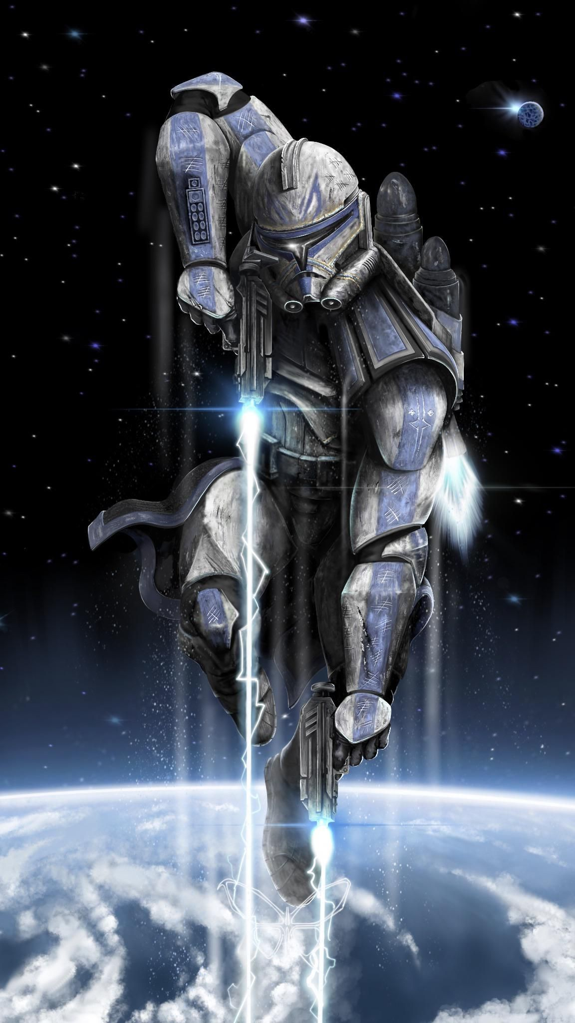 Captain Rex Procreate Me 2020 In 2020 Star Wars Art Star Wars Images Star Wars Wallpaper