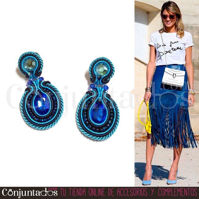 Esta #primavera destaca con nuestros exclusivos #pendientes de #soutache #artesanales ★ Precio: 24,95 € en http://www.conjuntados.com/es/pendientes/pendientes-de-soutache.html ★ #novedades #earrings #conjuntados #conjuntada #joyitas #jewelry #bisutería #diseño #exclusivo #artesanal #único #EdiciónLimitada #LimitedEdition #bijoux #accesorios #complementos #moda #fashion #fashionadicct #picoftheday #outfit #estilo #style #GustosParaTodas #ParaTodosLosGustos
