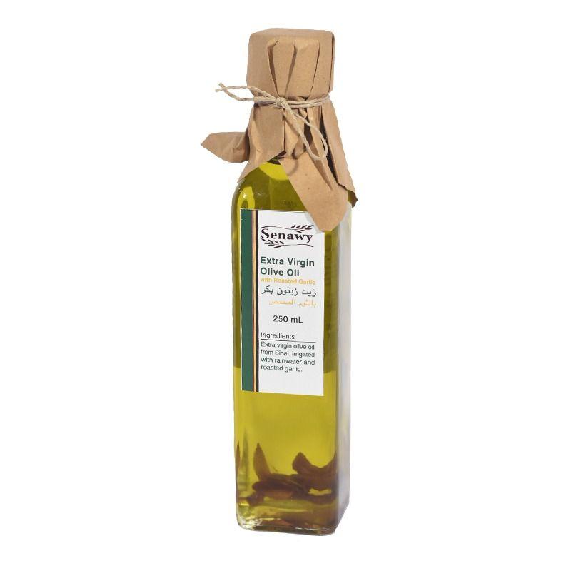 زيت الزيتون البكر الممتاز بالثوم المحمص من سيناوي 250مل 100 طبيعى من سيناء Olive Oil Oils Extra Virgin Olive Oil