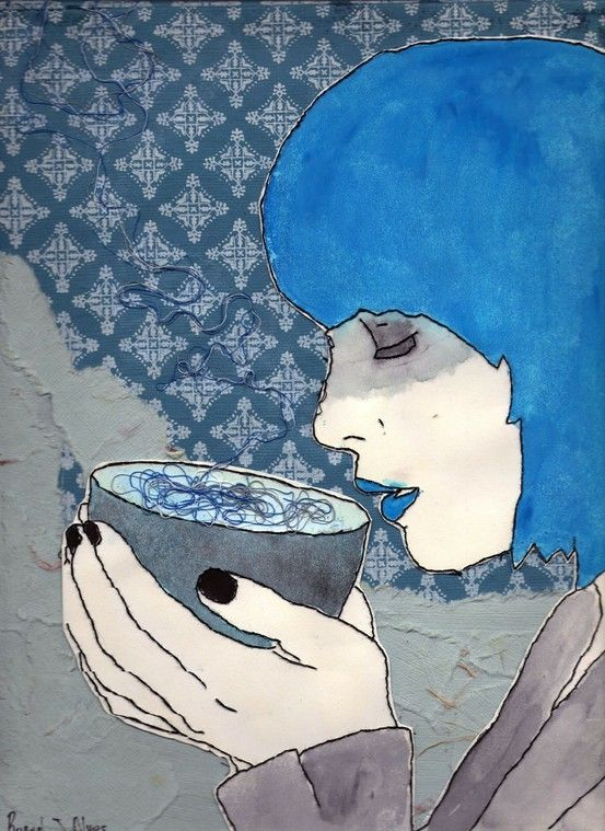 Blue - Lunch Time by Raquel.J.Alves. #coffee