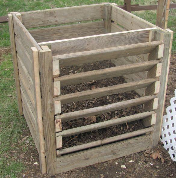 Diy Build Wood Composter Wooden Pdf Table Blueprints Compost Bin