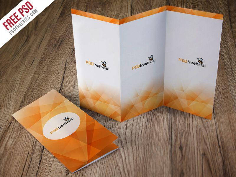 TriFold Brochure Mockup Free PSD Tri Fold Brochure Mockup And - Photoshop tri fold brochure template free