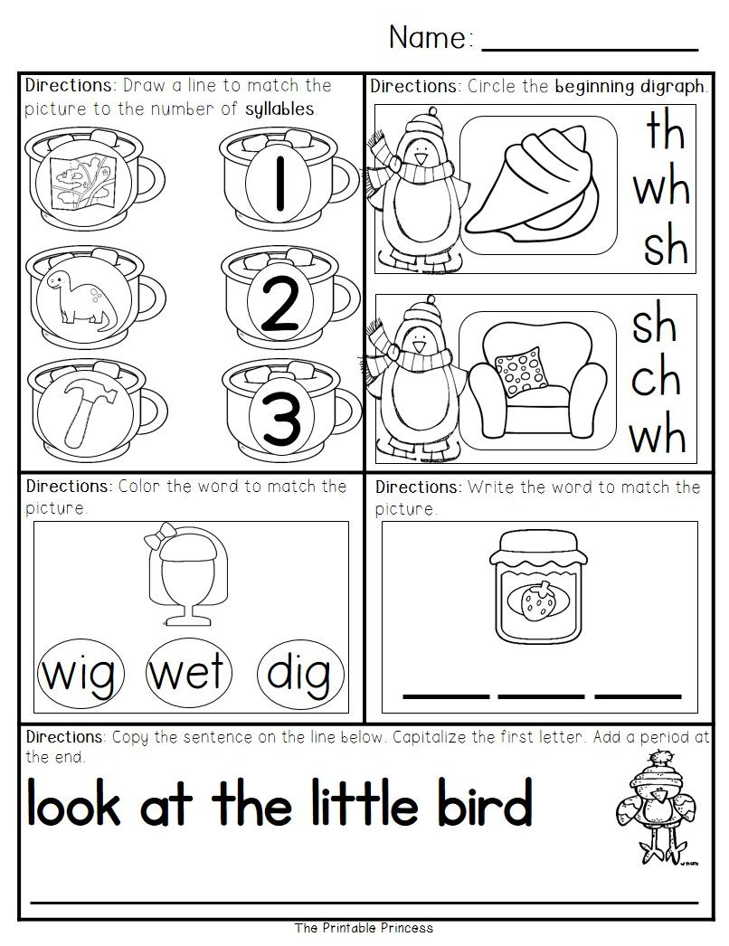 January Morning Work for Kindergarten | Pre-school common core ...
