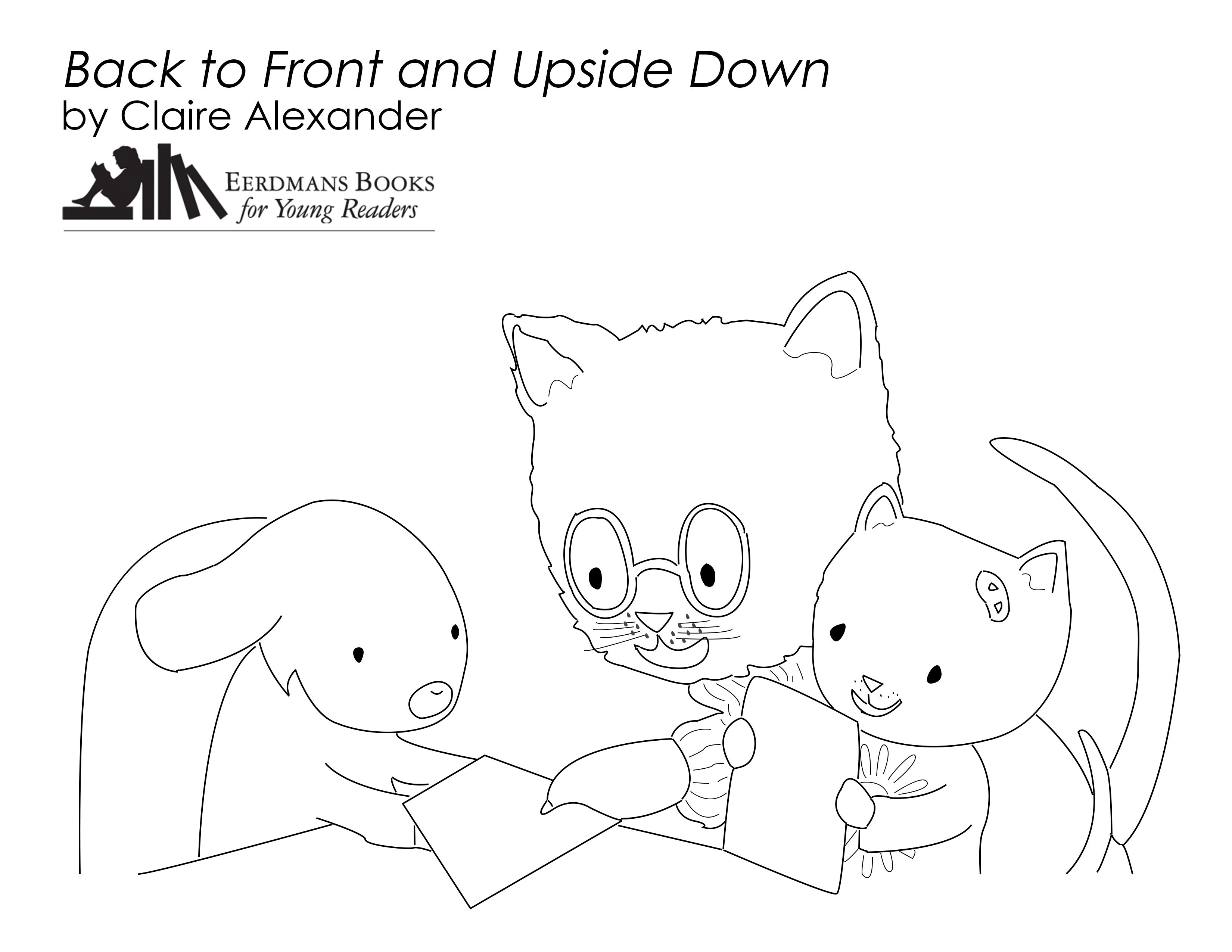 Back To Front And Upside Down Coloring Page Free