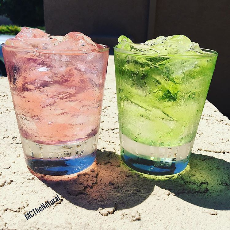 """Recipe Alert!!! From our pals at @mcthenatural dubbed the """"Summertime Getaway""""  INGREDIENTS:  Tequila (your favorite Plata or Silver or GT's recommendo @hornitostequila or @tresagaves)  Dragon Fruit Vodka  Mango Rum  Melon Liqueur  Watermelon Liqueur  Strawberry Lemonade  Sprite Remix .  #Tequila  #VodkaCocktails  #TequilaCocktails #SpringDrinks #Mixology  #DrinkArt #Bartending #MCTheNatural #TipsyBartender"""