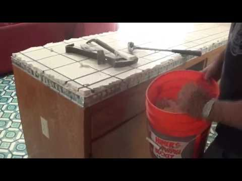 1 How To Remove Or Demolish Old Tile Countertop Youtube Tile