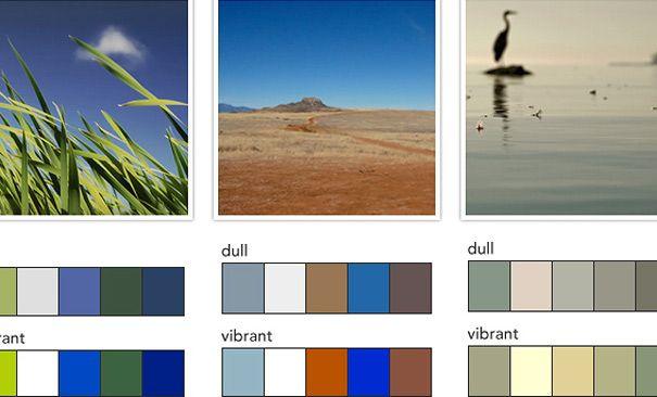 Web Design Natural Colors From Photographs Decor Color Palette