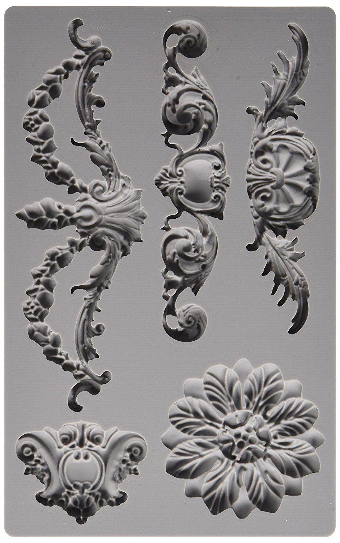 Amazon Com Prima Marketing 814793 Baroque No 3 Iron Orchid Designs Vintage Art Decor Mold Grey Hom Iron Orchid Designs Diy Furniture Appliques Baroque Decor