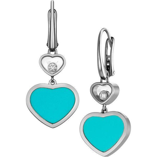 Chopard Happy Hearts Turquoise Stud Earrings mwdjaHrJ