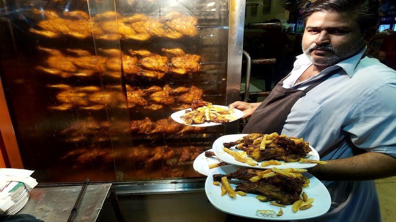 Hussainabad Ka Famous Chicken Chargha Ghousia Restaurant Food Street Karachi Pakistan Youtube Food Street Food Burger Maker