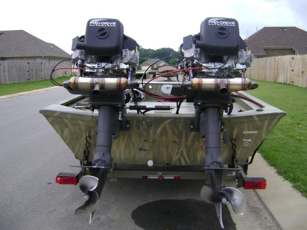 Twin Surface Drive Mud Motor Waterfowl Hunting