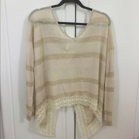 Free People Split-back Sweater NEVER WORN, light and flowy sweater with a split back from Free People. Free People Sweaters