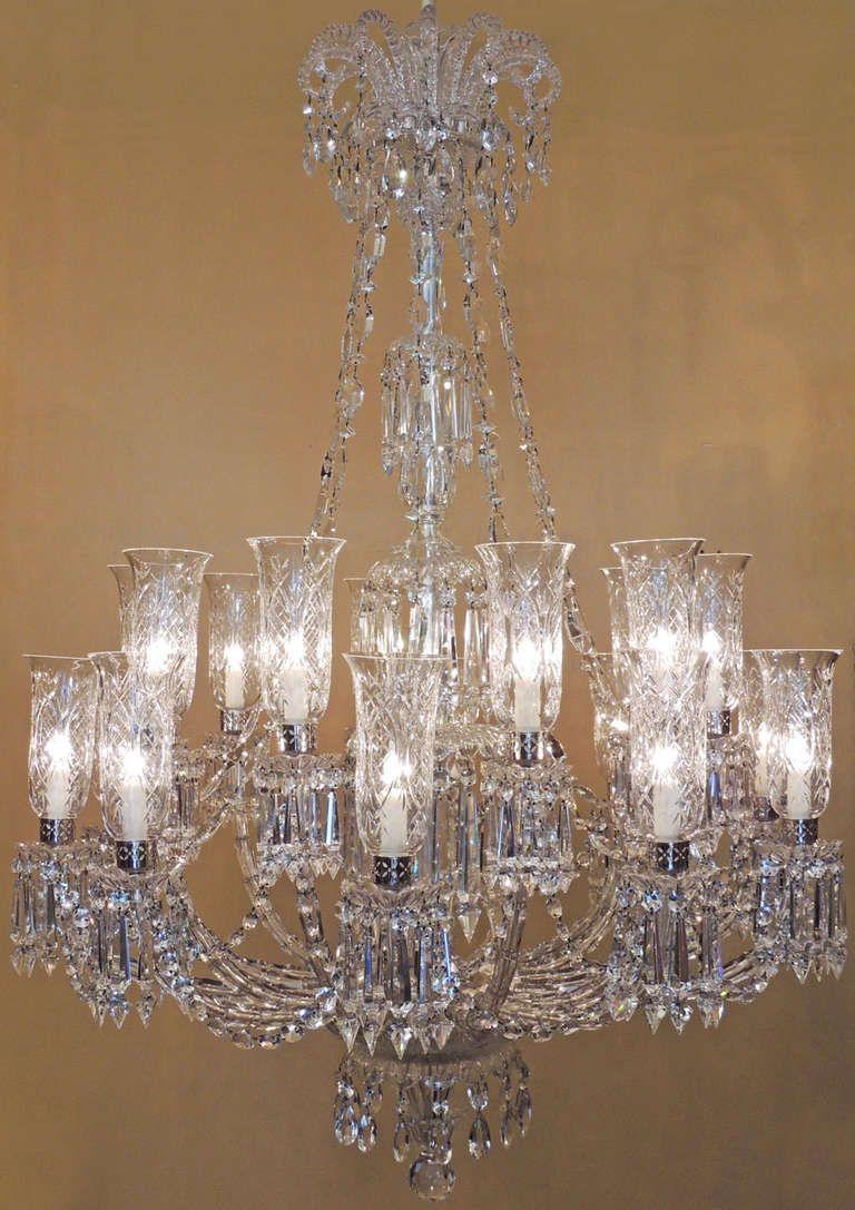 1stdibs Monumental 1860s Rare Faux Bamboo Crystal Twenty Arm Baccarat Chandelier Baccarat Chandelier Crystal Chandelier Hanging Lamp