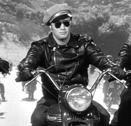 Marlon Brando Escena The Wild One Motorcycle Jacket Marlon
