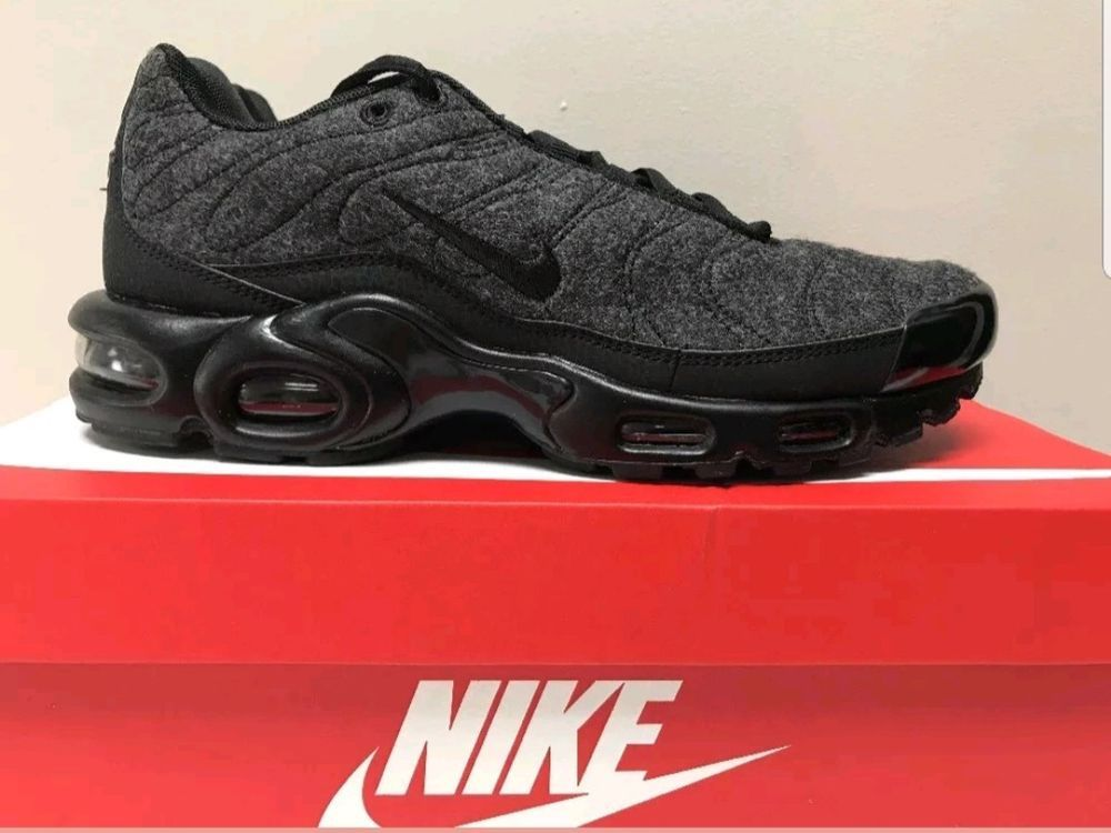 5e95442c1d0b Nike air max plus quilted wool grey black anthracite size 9 mens 806262-022