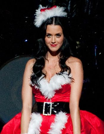 Katy Perry in santa outfit. Katy Perry - Photos: Young Teen Celebrities In Christmas Costume, Santa Hat