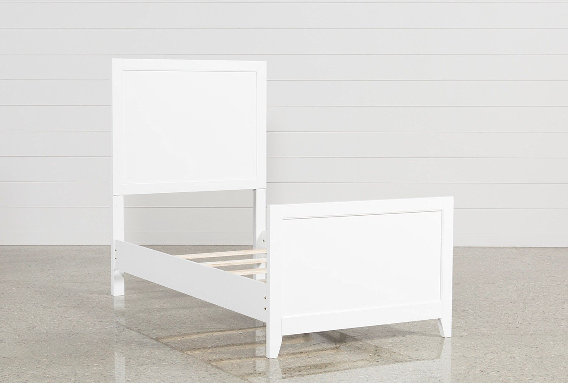 Bayside White Twin Panel Bed Left Panel bed, Bed, White