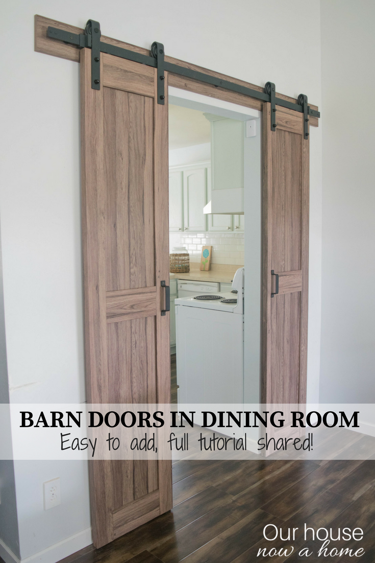 Easy To Install Barn Door Barn Door Installation Diy Sliding