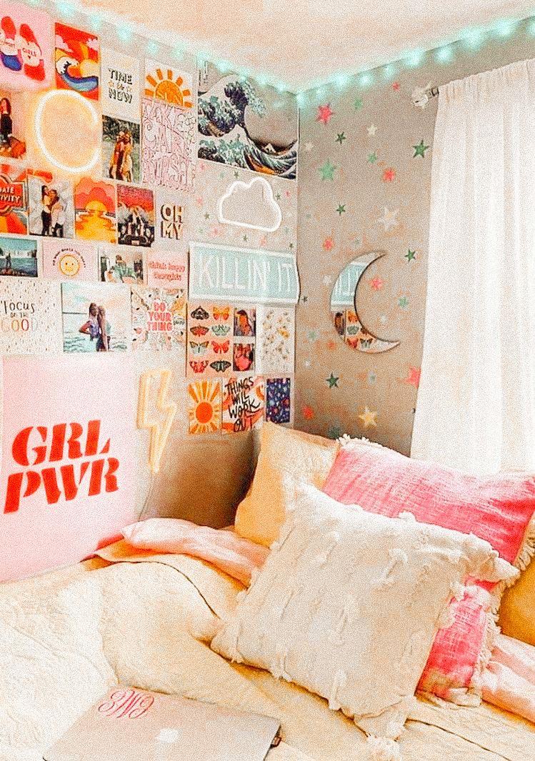 𝚎𝚍𝚒𝚝𝚎𝚍 𝚋𝚢 𝚕𝚎𝚡𝚒𝚒𝚒𝚕𝚊𝚢𝚗𝚎 𝚠𝚒𝚝𝚑 𝚕𝚒𝚐𝚑𝚝𝚛𝚘𝚘𝚖 In 2020 Cute Bedroom Decor Retro Bedrooms Dorm Room Decor